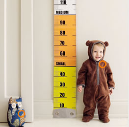 how to measure a baby height
