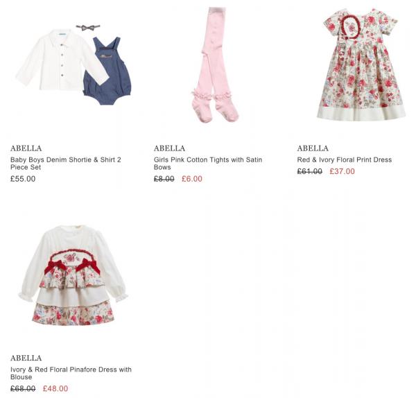 Abella Baby clothes